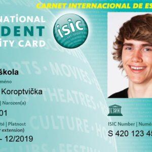 Využití karty ISIC pro studentské slevy