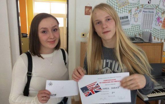 Úspěch v okresním kole olympiády v anglickém jazyce