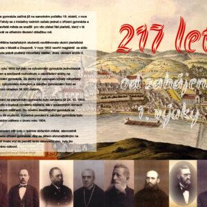 217 let od začátku 1. vyučování na Gymnáziu v Kadani