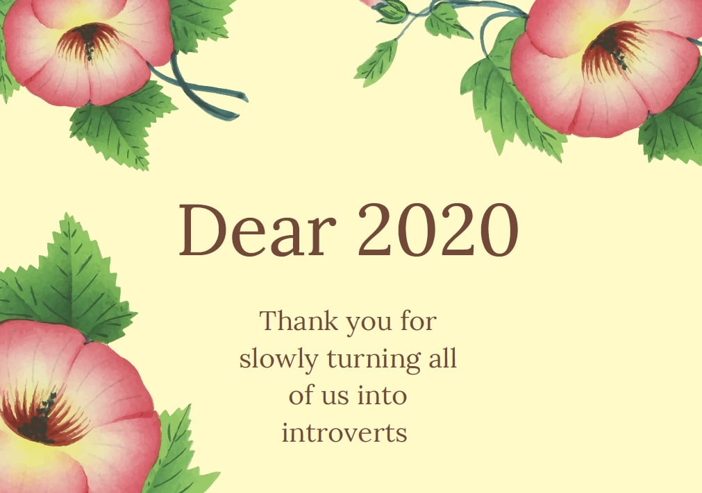 Co byste vzkázali roku 2020?